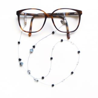 La Femme en Noir Twenty Six dark crystal glasses chain