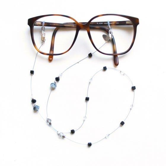 La Femme en Noir Twenty Six dark crystal glasses chain