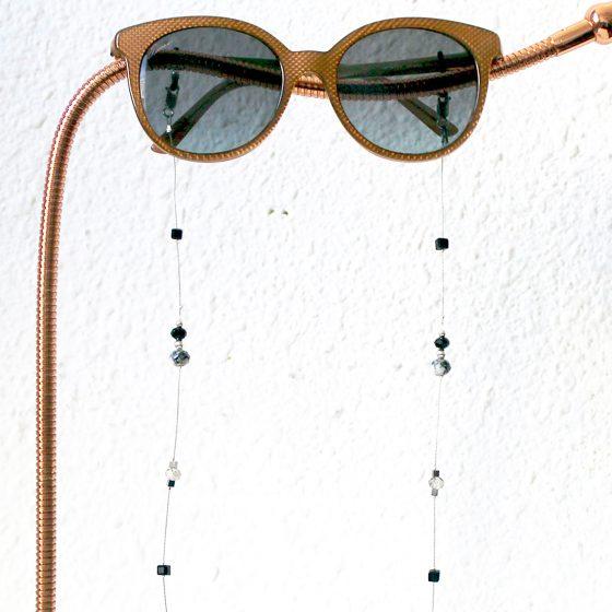 La Femme en Noir Twenty Six dark crystal glasses chain hanging on lamp