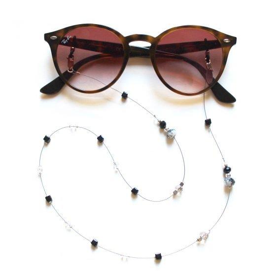 La Femme en Noir Twenty Six dark crystal sunglasses chain