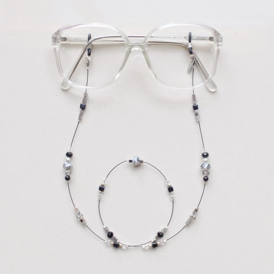 Lady Killer Glasses chain on clear frames