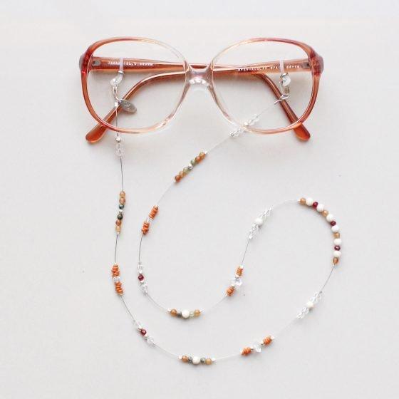 L'Erudite glasses chain agate stones